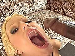 Dick-loving blonde gets two cocks