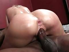 Mikki Lynn gets her asshole and pussy pounded by her black lover.