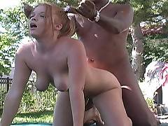 Deja is the girl next door. Well, that's if you live next door to a black cock hungry caucasian cutie that needs her daily fill of black pole. Deja looks like the kind of girl who should be in class but plays hooky for an appointment with African dongs. H