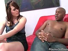 Sexy Emma Ash wants to have sex with her black bf