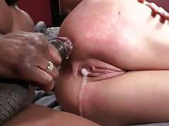 Slutty Mikki Lynn gets her craving pussy creampied after hard fucking.
