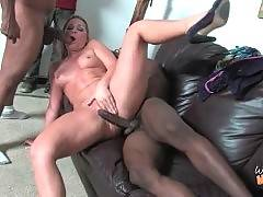 This bitch is masterfully doing deep blowjob