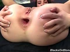 Adorable and horny whore is having anal penetration