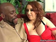 Redhead breasted chick Felicia Clover eagers for black dick.