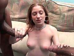 Chick Faces Two Big Black Dicks 1