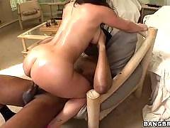 Euro tries a big dick. Liza Del Sierra
