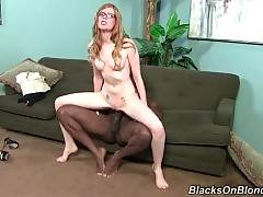 Sexy and adorable April Turner is doing blowjob