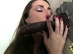 Naughty bitch is masterfully sucking big dick