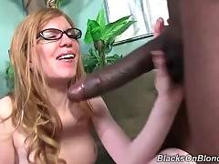 Doll likes to suck black and big phallus