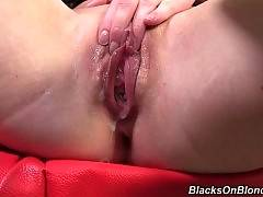 Sweet slutie gets her pussy stretched to it`s limits.