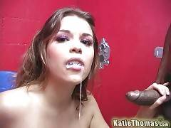 Hungry Shane Diesel facefucks Katie until feeds her with cum.