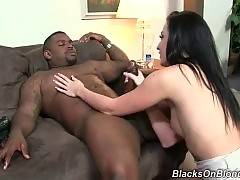 Black monster is drilling white and round ass