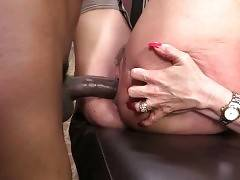 Janet Mason gets her craving pussy creampied by her black fuckers.