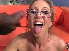 This sluty white milf loves to be fucked and spunked.