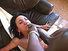 Black guy found babe and destroyed her. Giselle Royalle