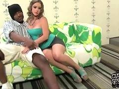 Amateur and hot Sierra Sanders is here to suck black cock