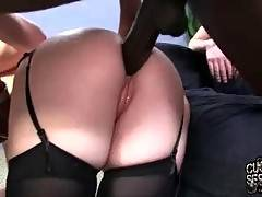 Ebony bastard is drilling her white butt