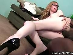 Sexy and hot April Turner is having rough fuck on the sofa