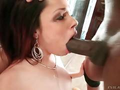 Prince Yahshua deeply drills Bambi Wolfe`s mouth near the mirror.