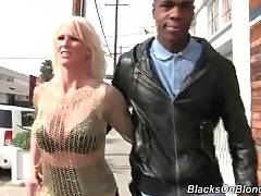 Sexy blonde consoles her black boyfriend after meeting with her father.