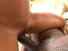 Gina Lynn Takes Lex's Big Dick and Wears his Cumshot as a Facial!