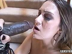 Trina Michaels - Brunette with Big Tits Makes a Big Dick Disappear!