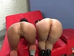 These mom and daughter love to feel huge black cock in their holes.
