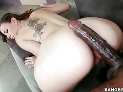 Sweet booty young hooker gets thoroughly drilled by big black dude.