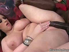 Chubby white cutie gets her pussy and boobs fucked.