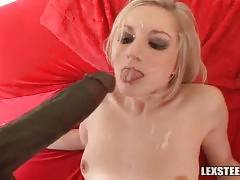 Slutty Kylee Reese gladly welcomes Lex`s insane black dong in her hole.
