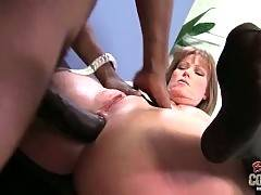 Sluty white mommy gets fucked hard on her office table.