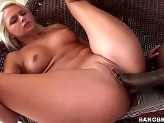 Sluty Blondie Enjoys Big Black Cock 4